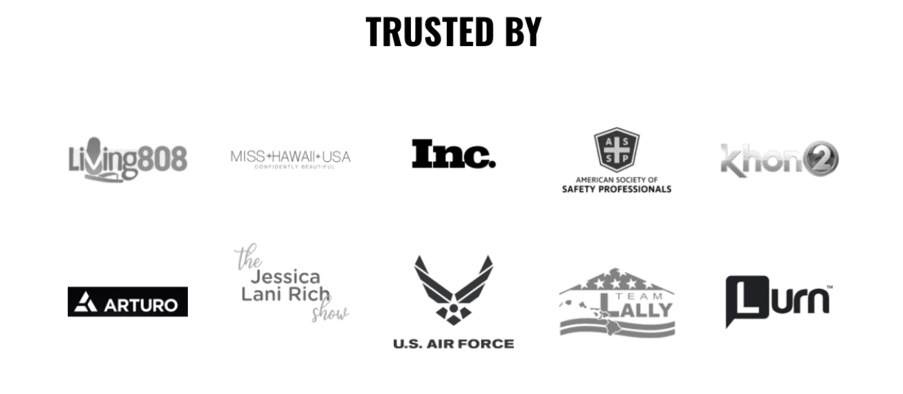 example of storybrand trust by other companies