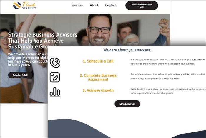 storybrand website example - fluid strat