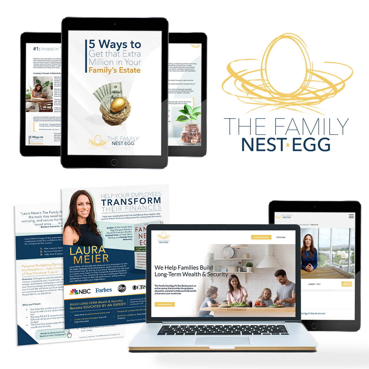 several examples of digital storybrand marketing created developed by a storybrand certified guide