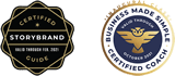 StoryBrand Certified and Business Coach Certified Badges