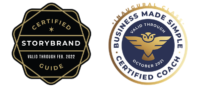 storybrand certified guide Badge, business coach